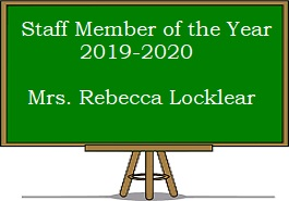 Staff Member of the Year - Mrs. Rebecca Locklear